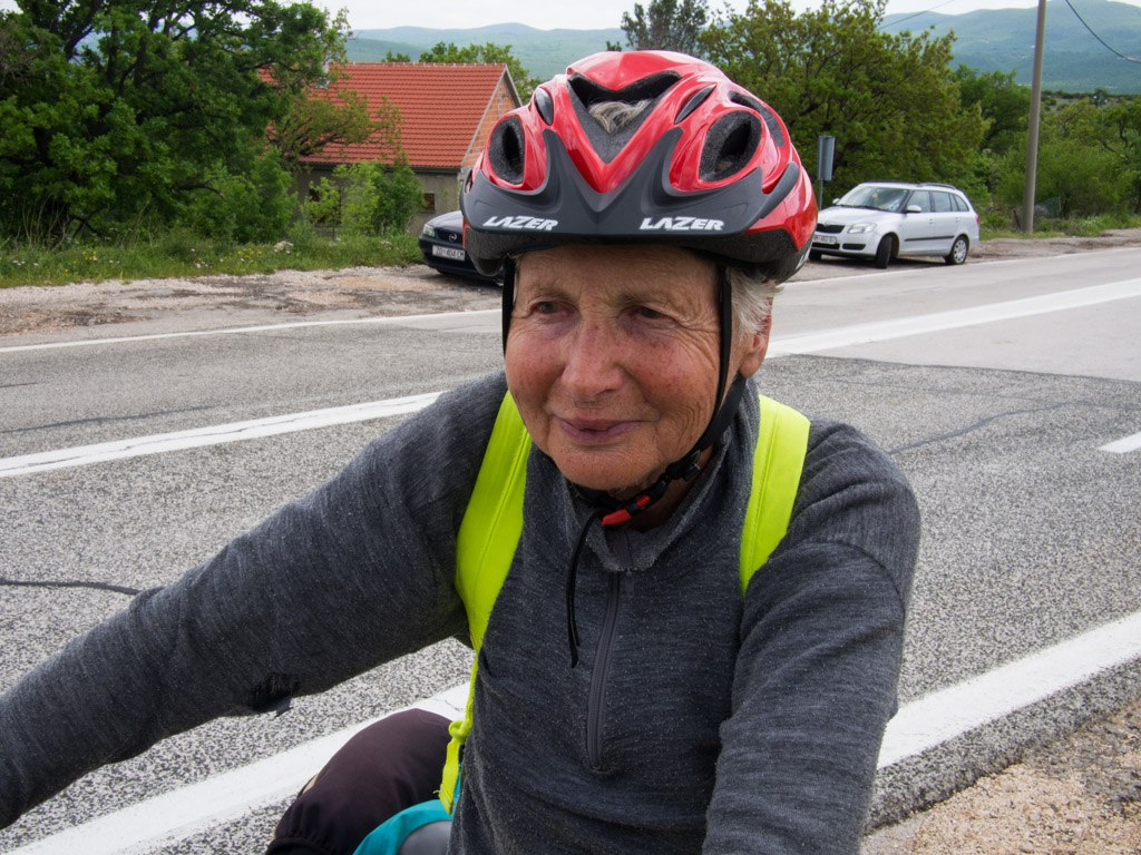 80 year old woman on her touring bike