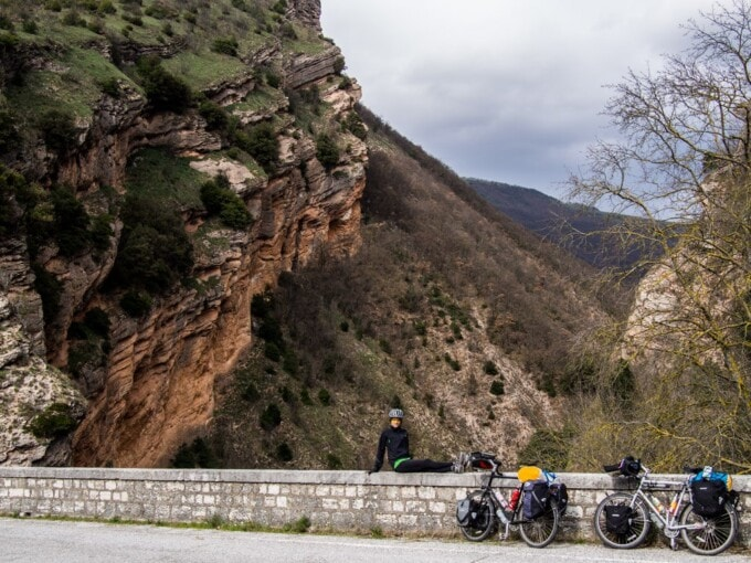 bike touring Italy