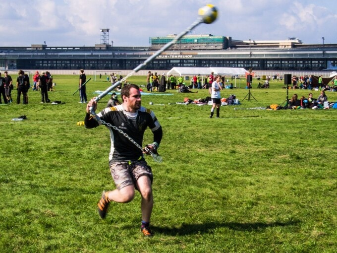 Watch out for that flail, Jugger tourney at Templehof.