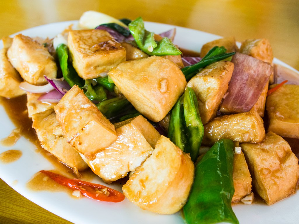Rural and delicious tofu dish, near Leizhou, Guangdong Province.
