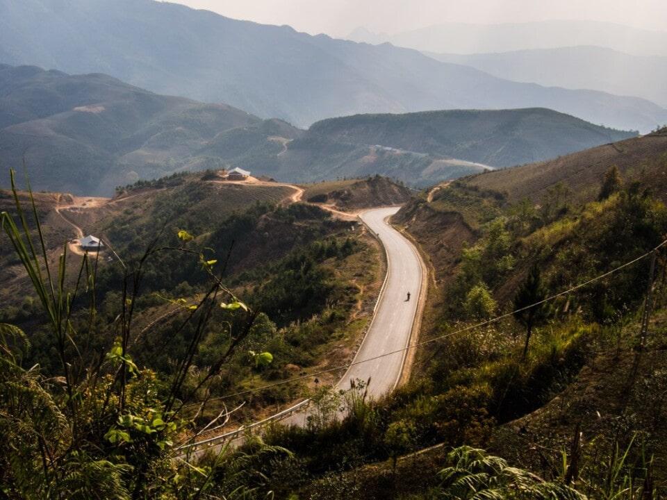 road through the annamites in vietnam