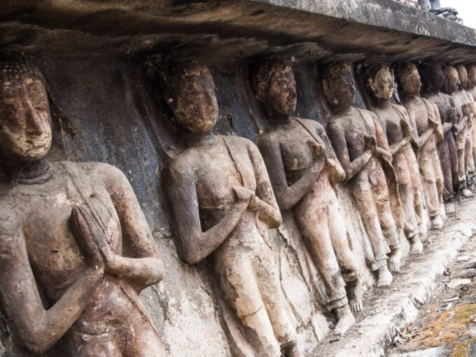 statues in relief thailand