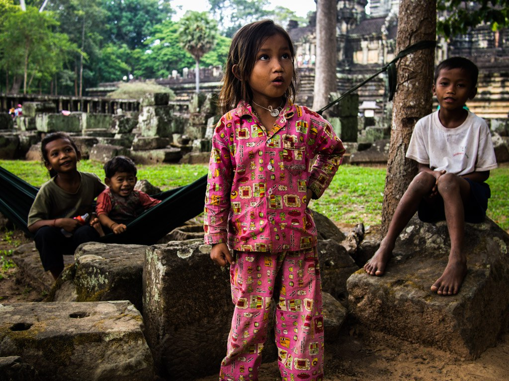 This little girl is gonna be somebody, at Angkor Thom.