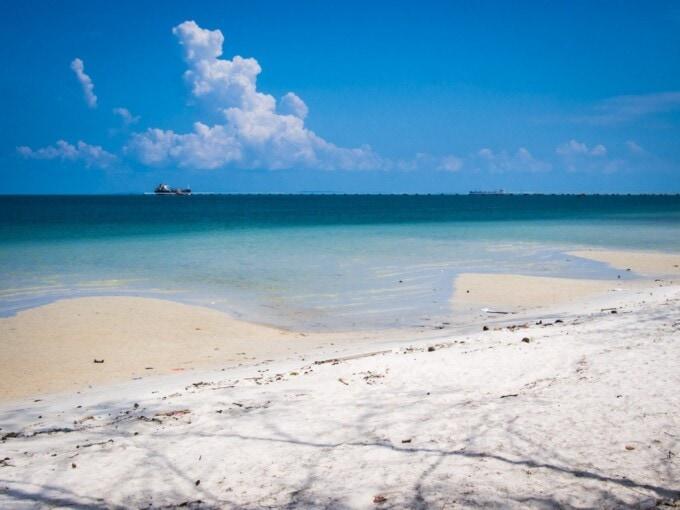 white sand beach in cambodia