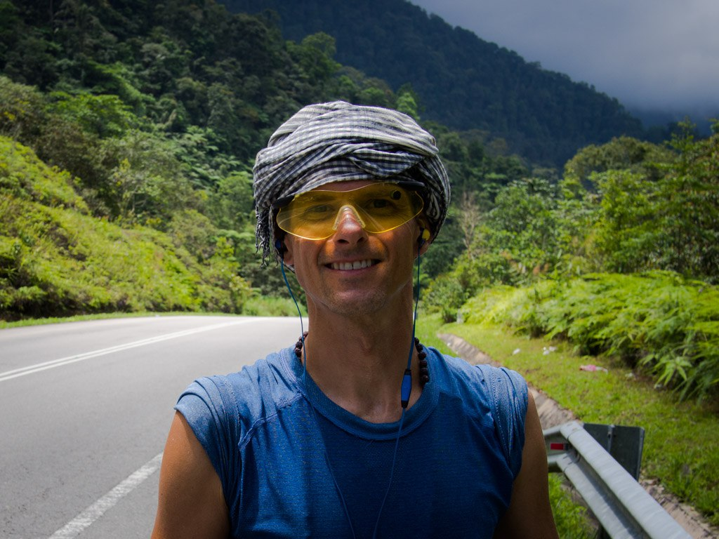 Still smiling after all these miles, Cameron Highlands.