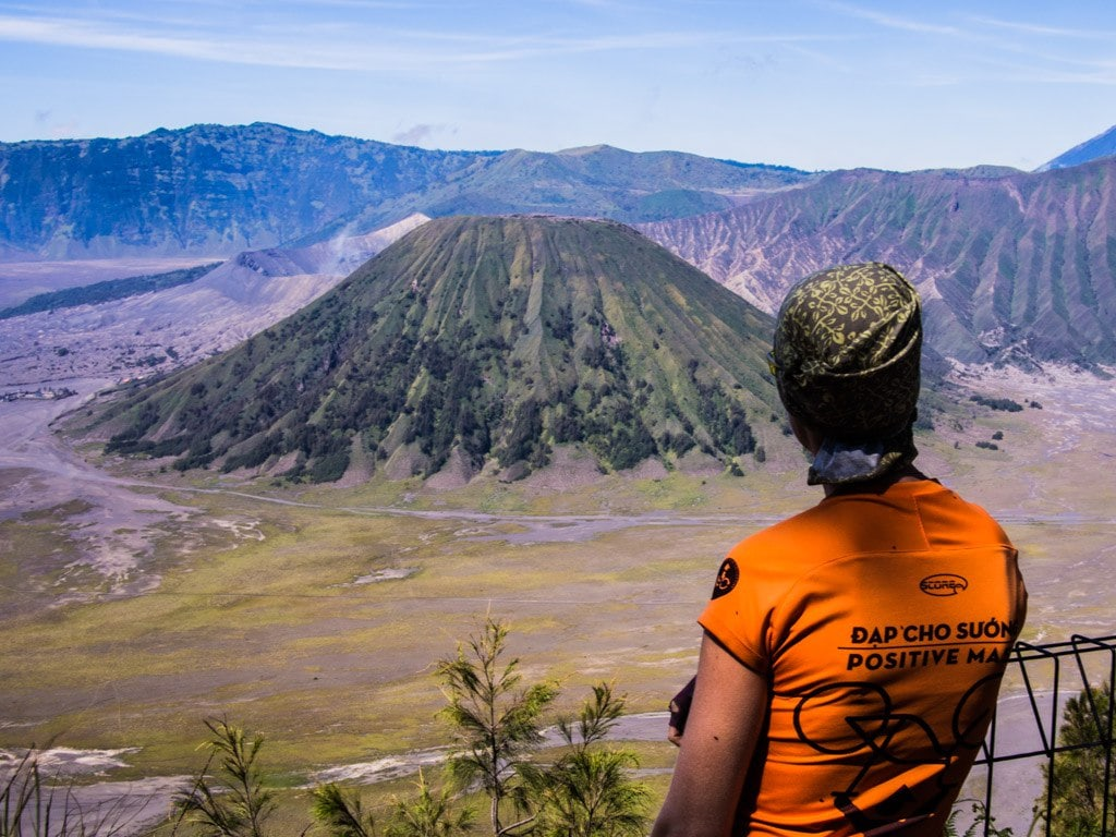 Yet another rest break on the excruciating climb, above Mount Batok and Mount Bromo.