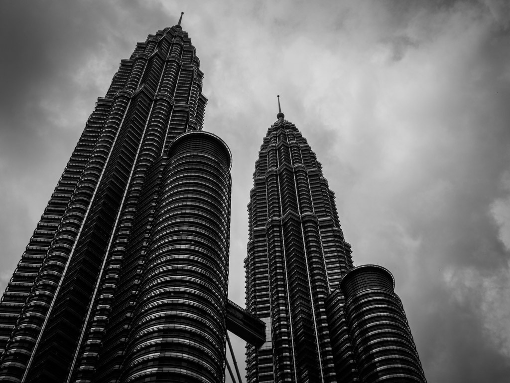 Why would this be distracting, Petronas Towers, Kuala Lumpur.