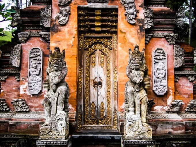 temple entrance in bali indonesia