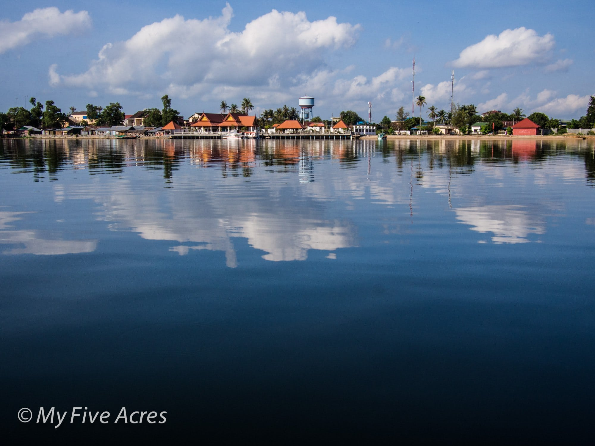 Kampot from the river.