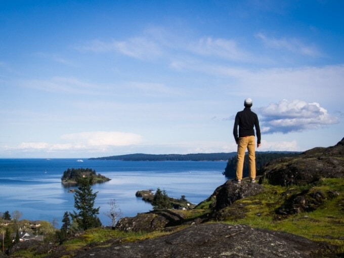 man on a hiking adventure activity