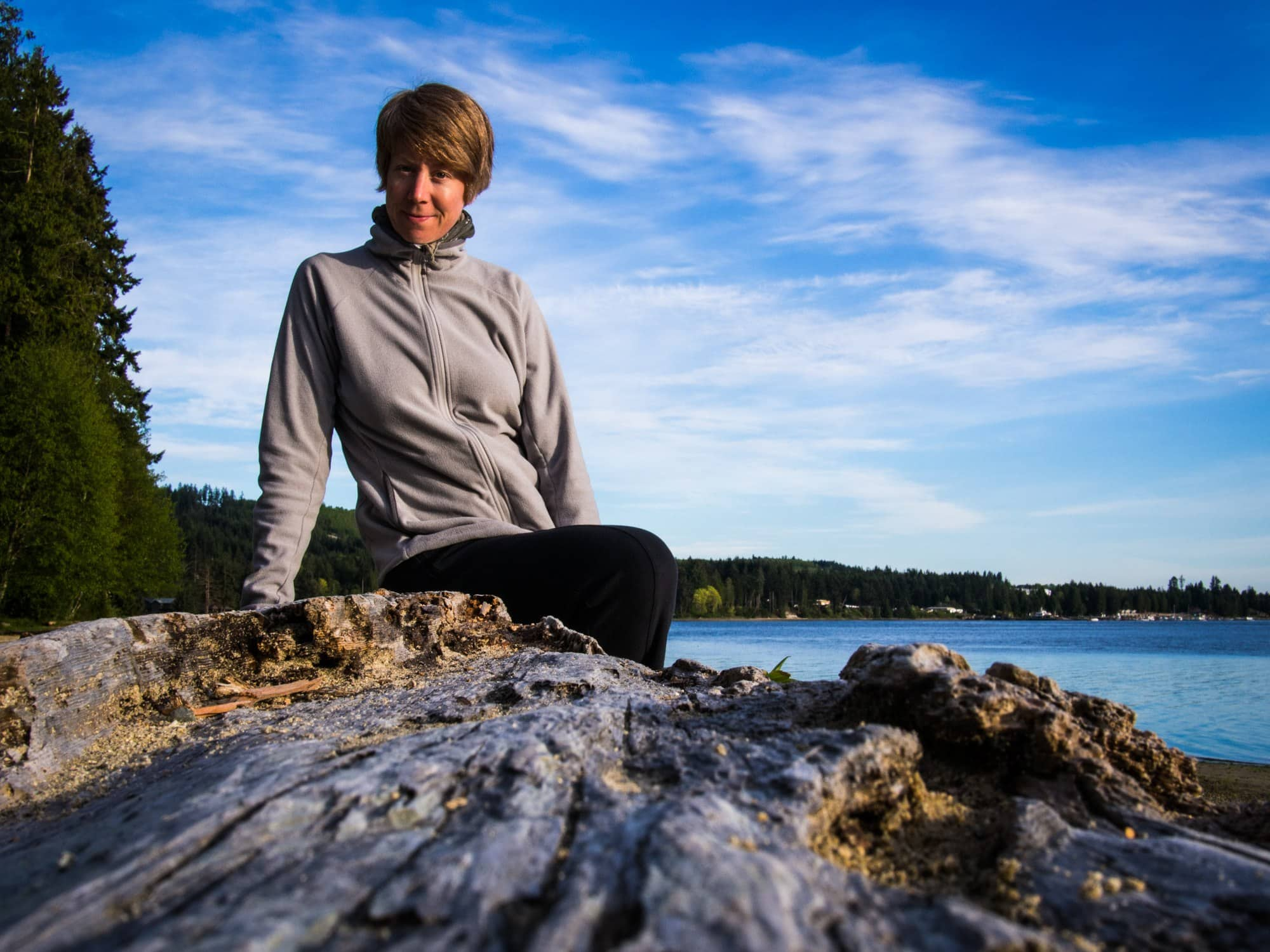 jane at the beach in sechelt