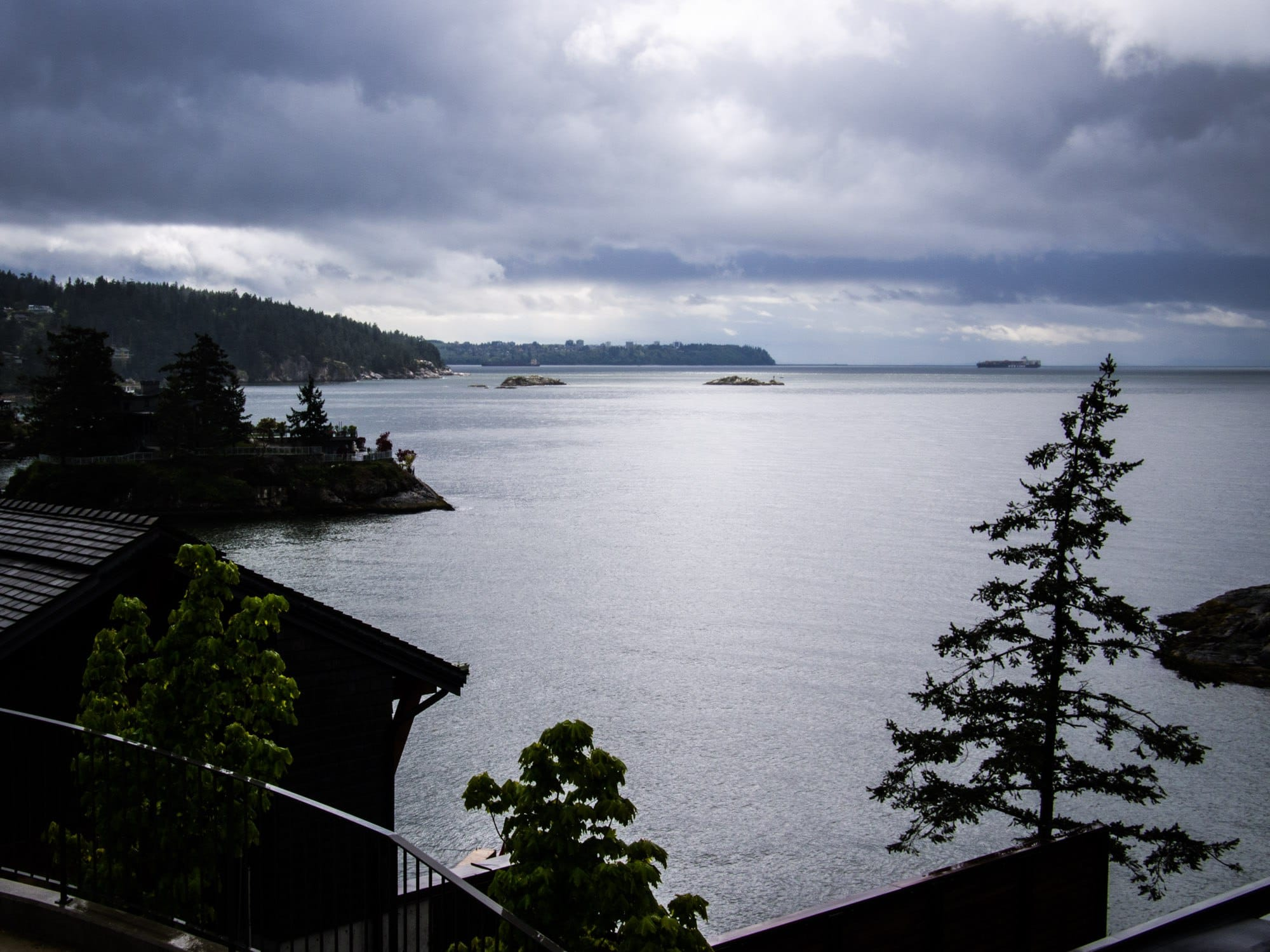The view from a West Vancouver home.
