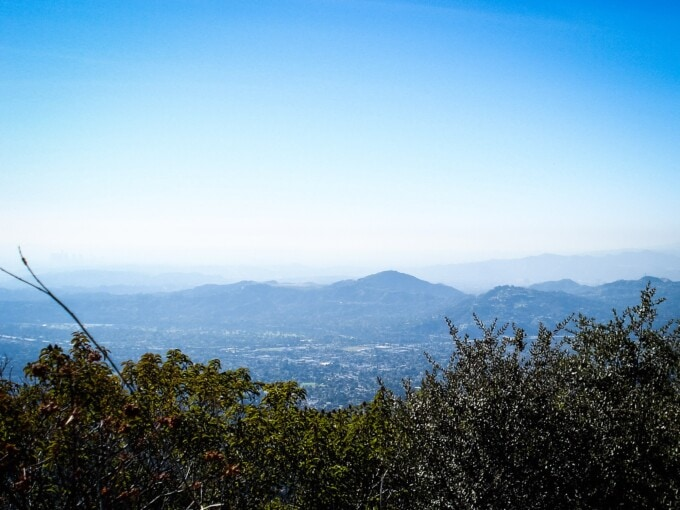 A view of Pasadena from Echo Mountain.