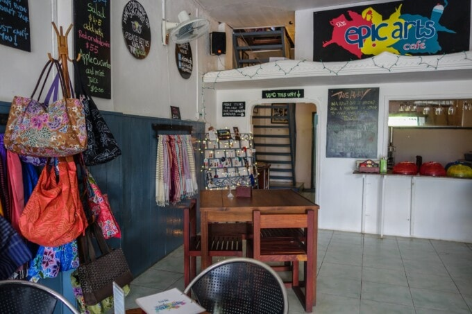 crafts for sale at epic arts cafe in kampot