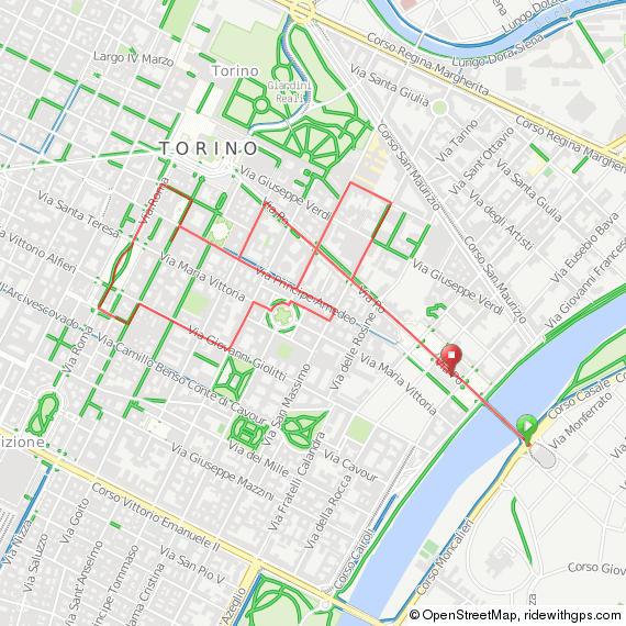 Our Torino walking tour map is available online or as a download.