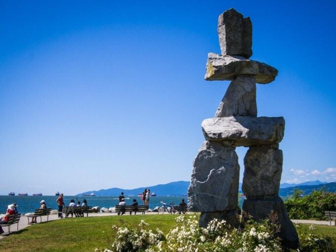 Vancouver, inukshuk, Vancouver seawall, Vancouver bike route
