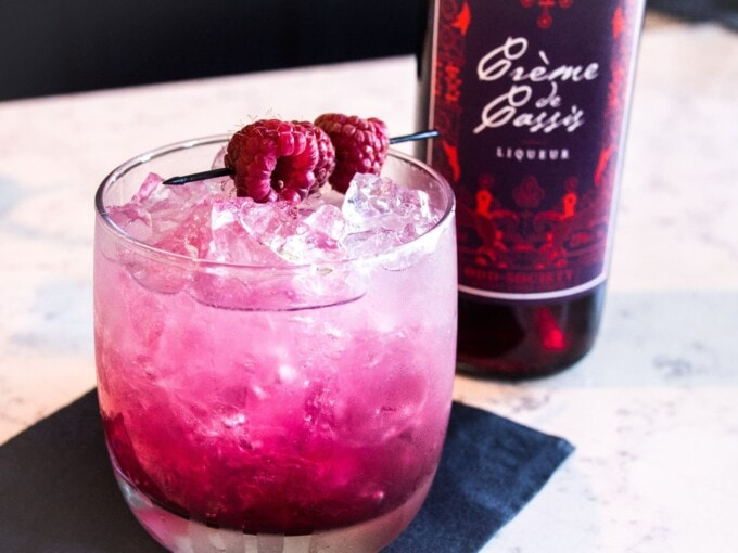 Odd Society, gin, creme de cassis, cocktails