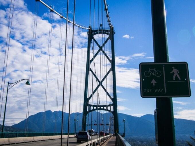 Vancouver bike routes, Lions Gate bridge