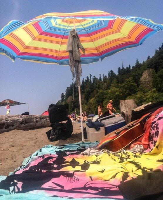 Vancouver bike routes, Wreck Beach