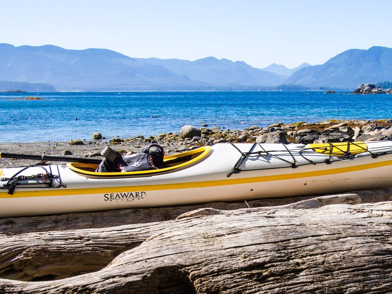 family kayaking, Broken Group Islands, Canada, kayaking, British Columbia