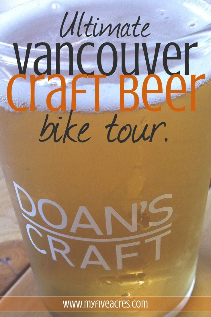Vancouver craft beer, Vancouver breweries, Vancouver bicycle tour, Vancouver by bike