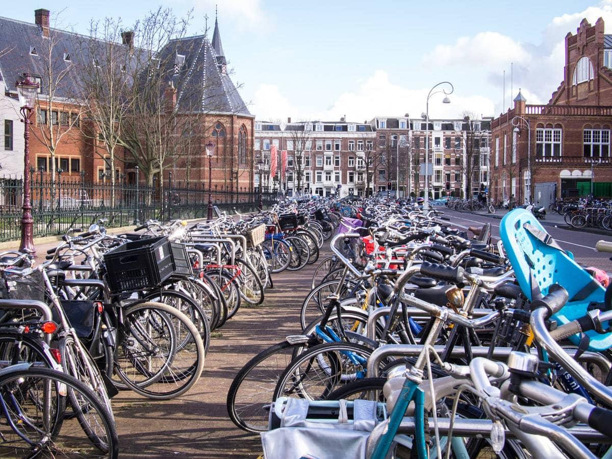 bikes in Amsterdam: European Culture