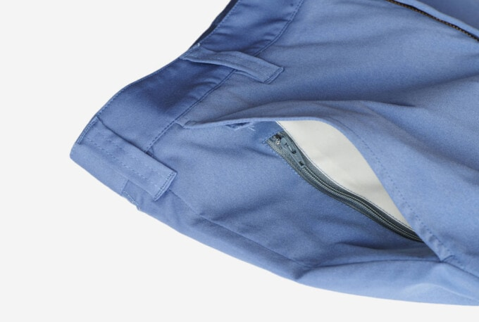 zipper pockets on bluffworks pants