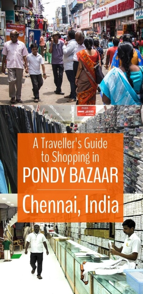 Shopping in Chennai's Pondy Bazaar is an amazing experience and one of the best places in the world to get great deals on clothes, jewelry and more. Click for our Pondy Bazaar Shopping guide! #chennai #india #shopping