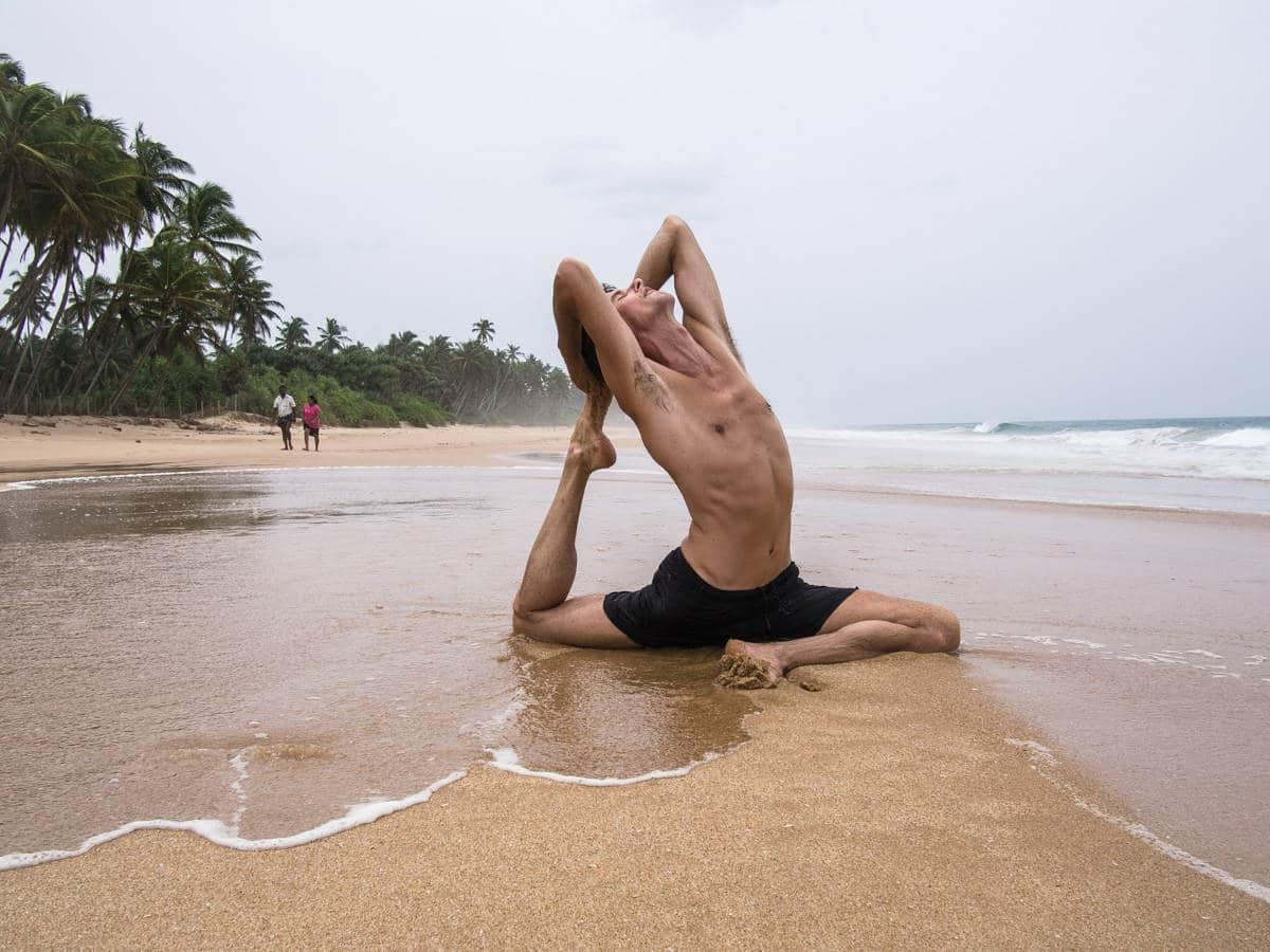 Sri Lanka beach yoga