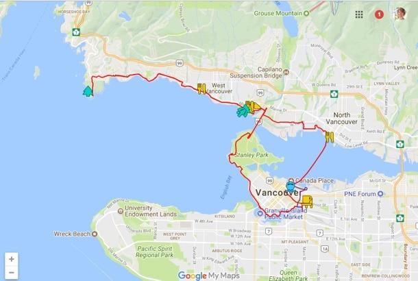 vancouver bike routes