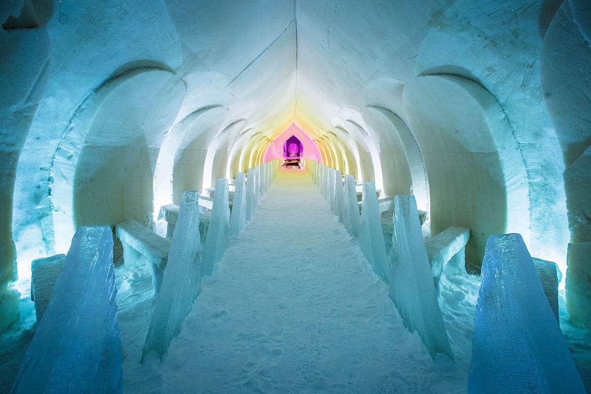 ice cathedral in Rovaniemi, Lapland, Finland