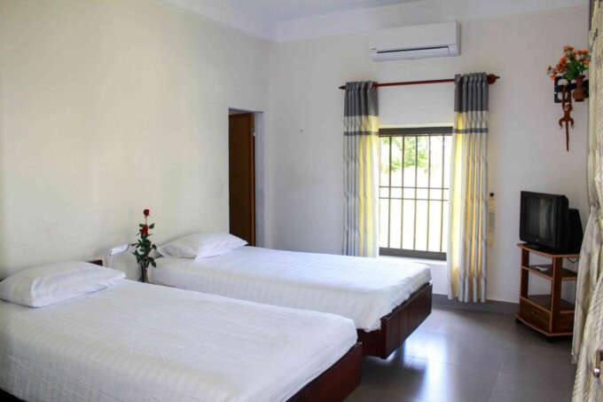 twin room at Co Hoa Homestay, Hoi An, Vietnam