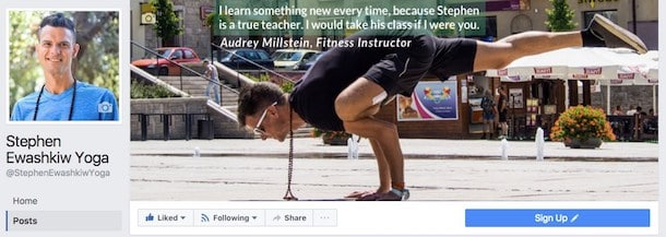great facebook yoga pages
