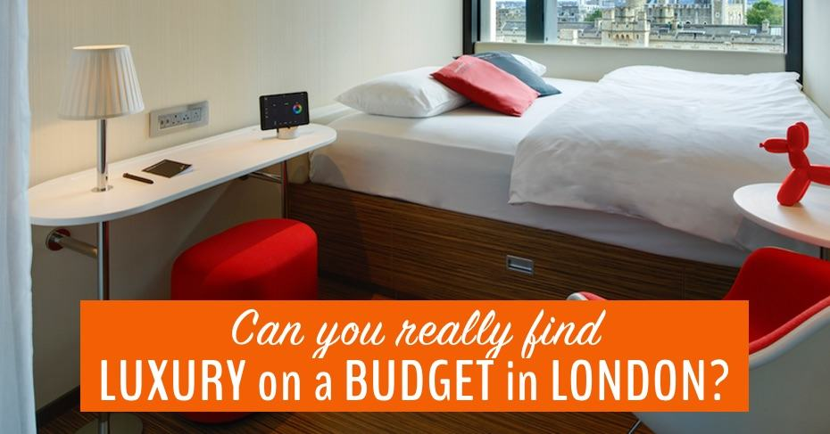 luxury on a budget in london