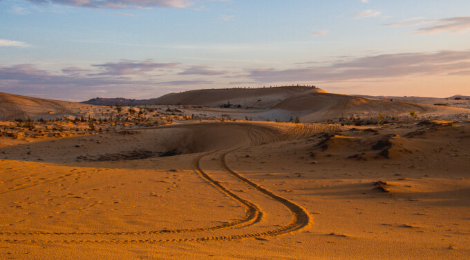 jeep track at the mui ne sand dunes vietnam