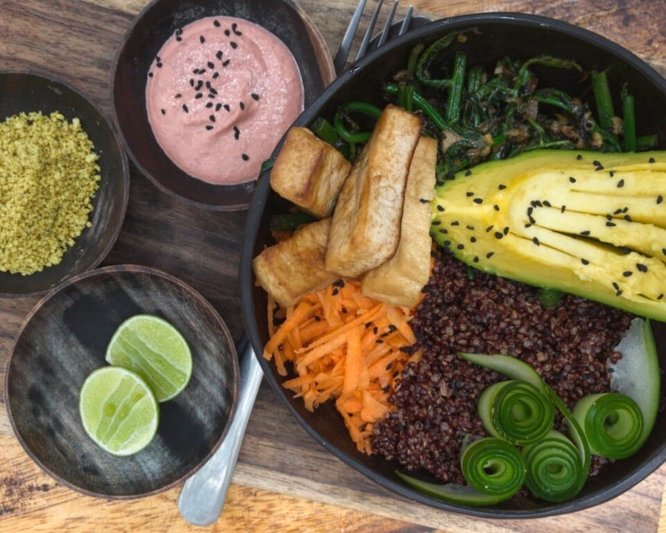 buddha bowl with side dishes