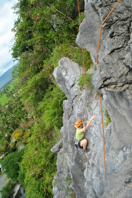 learning to rock climb in kampot was not a travel mistake
