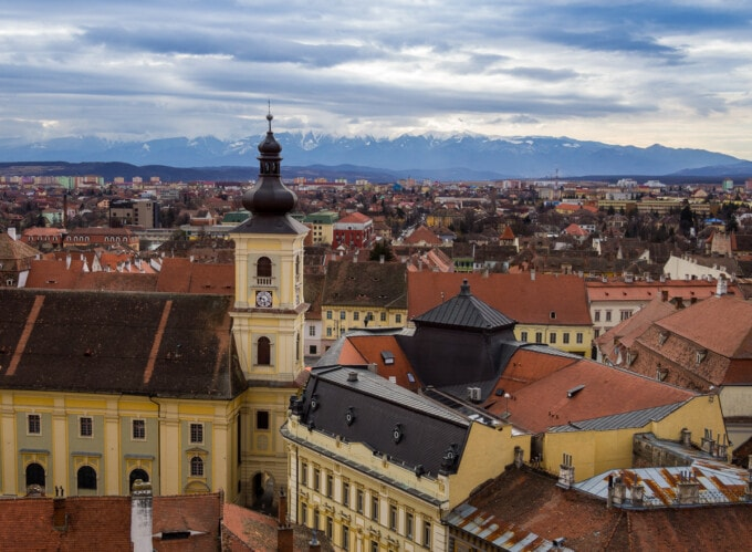 rooftops in transylvania romania Best Places to Spend Christmas in Europe