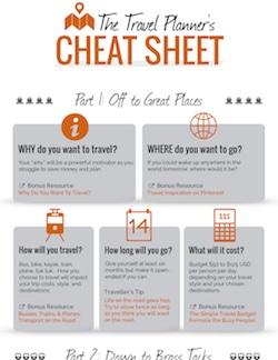 travel planning cheat sheet