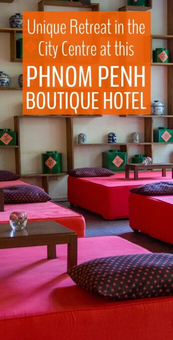 If you're looking for comfort, style, and a cool place to retreat from the hectic streets of Phnom Penh, Cambodia, this boutique hotel delivers! #boutiquehotels #cambodia #phnompenh