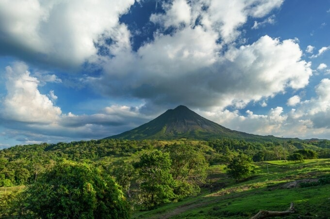 volcano in costa rica great for yoga travel