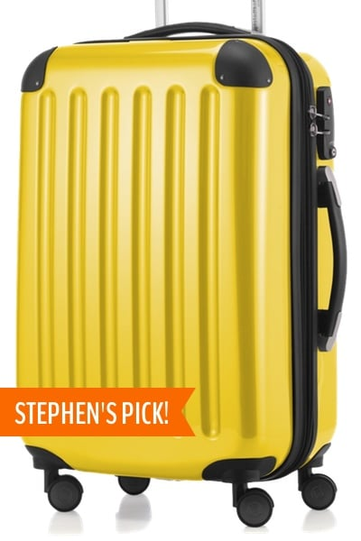 yellow hardside carry on suitcase stephen's pick