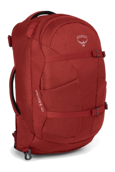 red osprey farpoint 40 minimalist backpack