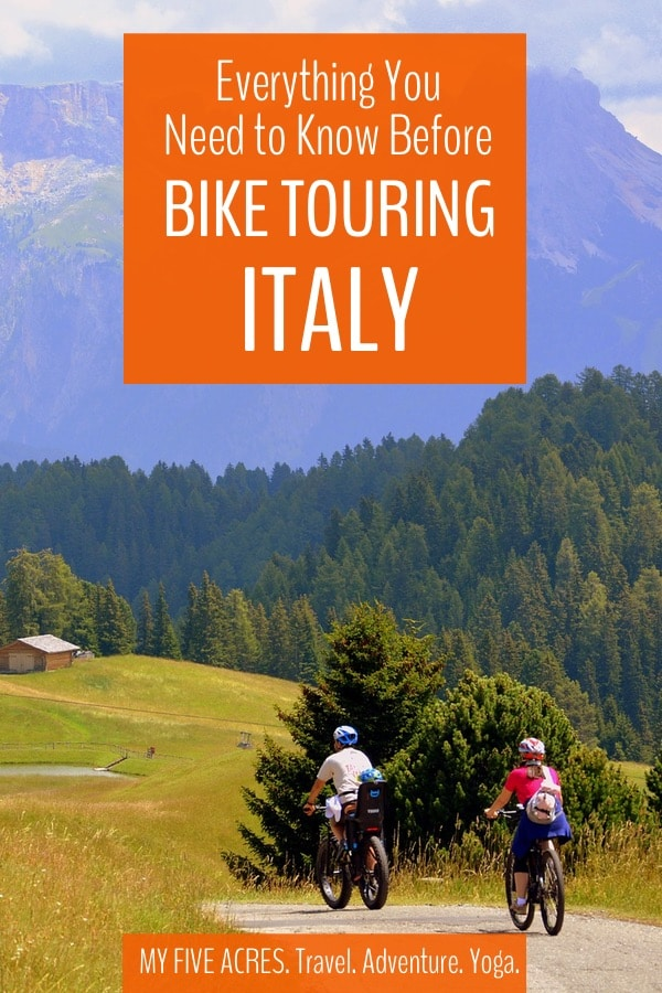 If you're thinking of bike touring Italy, we say an emphatic GO FOR IT! Italy has plenty of twisting quiet roads through stunning countryside, marvellous small towns and the world's most perfect cycle touring food! #biketouring #italy #bicycle