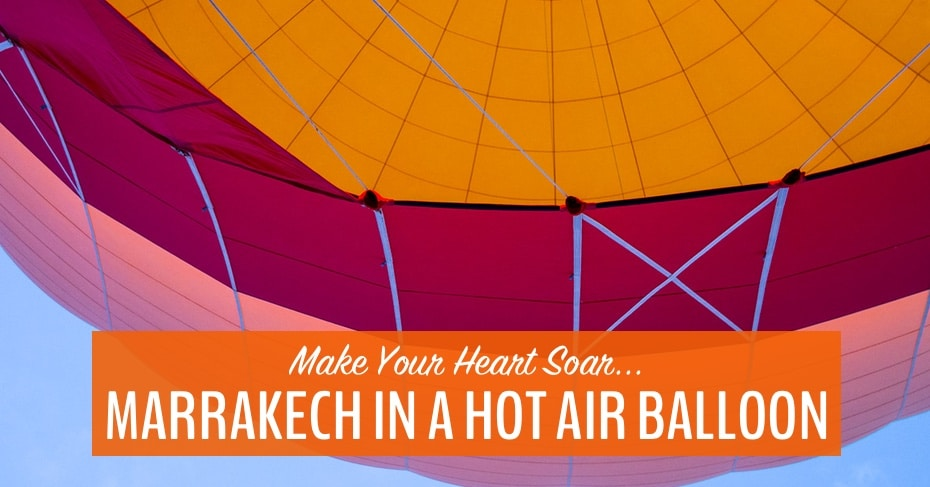 hot air balloon marrakech