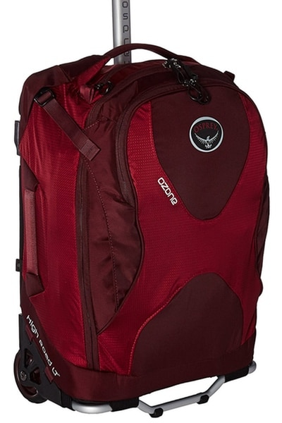 red osprey ozone minimalist backpack with wheels