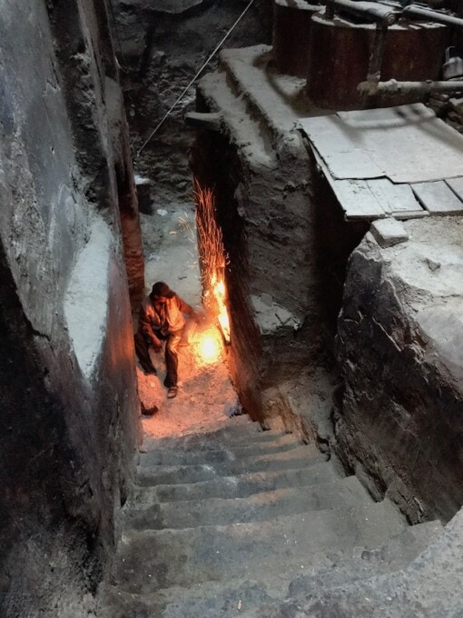 hammam fire under street level in morocco