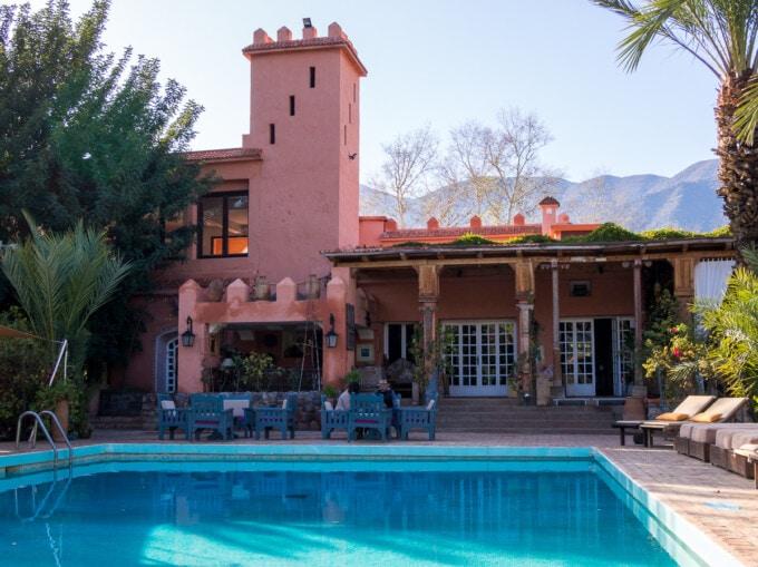 main pool at the retreat