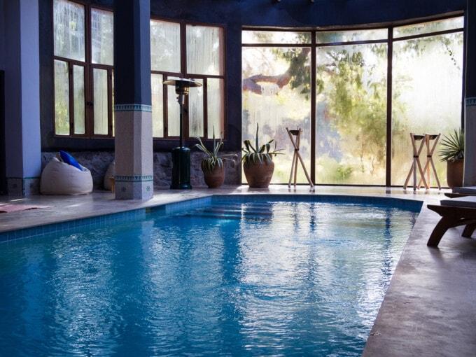 pool at la roseraie spa