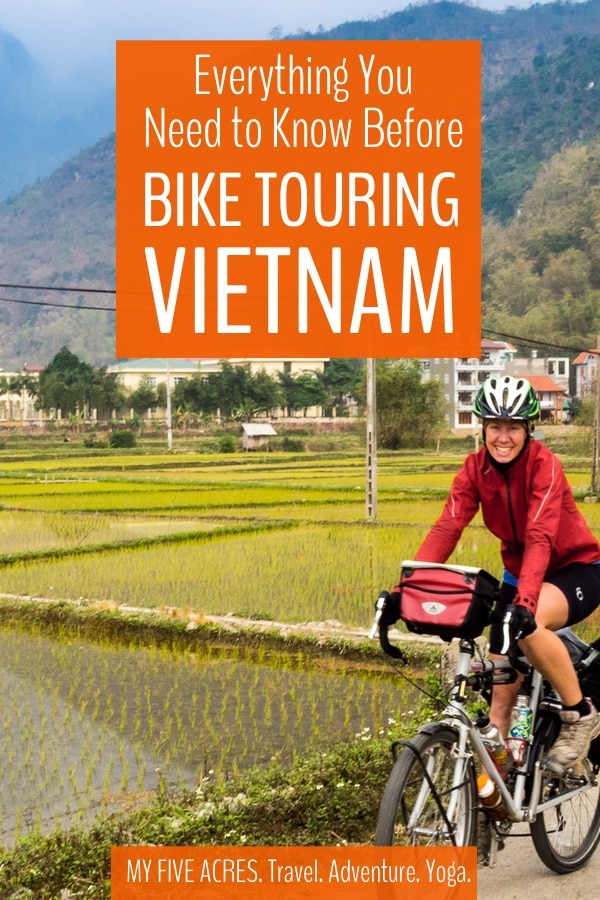 If you're thinking of bike touring Vietnam, then we say, good for you, you adventurous soul! Vietnam is a spectacular destination, and travelling Vietnam by bike is the ideal way to get off the tourist trail. Bike touring Vietnam can be challenging though! Read on to find out if cycle touring Vietnam is right for you. #vietnam #biketouring #bicycle #travel